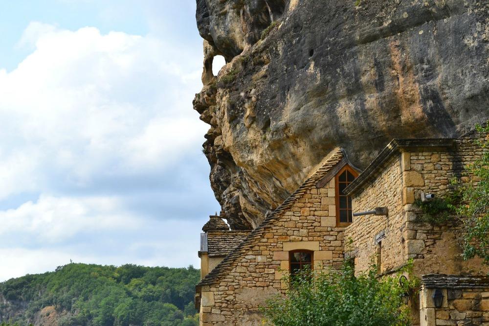 La Roque Gageac, troglogyte, Dordogne